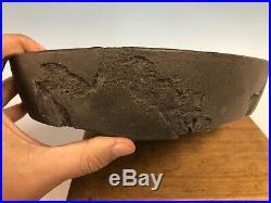 1st Gen Tokoname Yamaaki Bonsai Tree Pot Worm Eaten Style 12 3/4