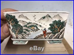 5 Color Shohin Bonsai Tree Pot Made By Ito Gekkou, Hand Painted 4 5/8