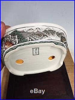 5 Color Shohin Size Ito Gekkou'go-Sai' Stunning Bonsai Tree Pot, 6 7/8