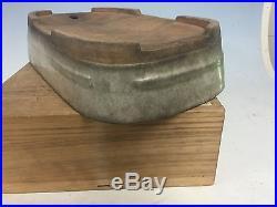 Antique Chinese Nakawatari Era Bonsai Tree Pot With Awesome Crackle Glaze 13 1/2