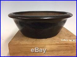 Antique Chinese Namako Beautiful Glazed Bonsai Tree Pot. 100+ Yrs Old 11 1/8