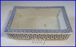Antique Chinese porcelain bonsai pot double wall hand crafted circa Qing Period