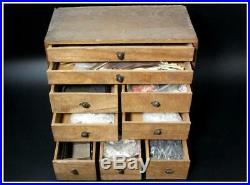 BKG40 Japanese old Bonkei tool set Hosokawa withtray #bonseki suiseki Karesansui