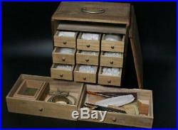 BKG44 Japanese old Bonkei tool set Hosokawa #bonseki suiseki Karesansui