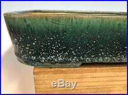 Beautiful Blue Green Glazed Tokoname Bonsai Tree Pot By Shuho 15