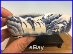 Beautiful Blue Hand Painted Shohin Size Bonsai Tree Pot By Tojaku 6