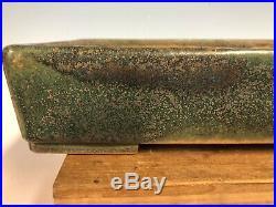 Beautiful Classic Green Glazed Tokoname Bonsai Tree Pot Made By Koyo 13 3/8