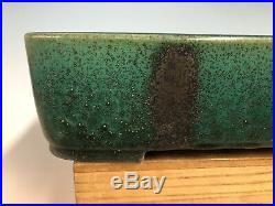 Beautiful Green Glaze Tokoname Bonsai Tree Pot By Koyo 13