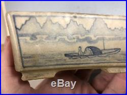 Beautiful Vintage Hand painted Shohin Size Japanese Made Bonsai Tree Pot 4 5/8
