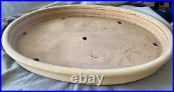 Bonsai Pot / Extra Large Feminine-Form 25 x 18 x 3 Signed -Tokoname