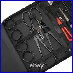Bonsai Pruning Tool 16Pcs Set Garden Shear Extensive Cutter Carbon Steel Scissor