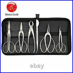 Bonsai Tool Kit 6PCS Stainless Steel Master Grade Long Length Gardening Set
