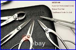 Bonsai Tool Kit Stainless Steel 6PCS Professional Grade Gardening Set