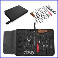 Bonsai Tool Set Carbon Steel Extensive Kit Cutter Scissors 14pcs