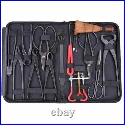 Bonsai Tool Set Carbon Steel Extensive Kit Cutter Scissors 14pcs/kit