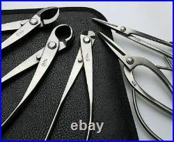 Bonsai Tool Set Stainless Steel 6PCS Professional Grade Long Length Garden Kit