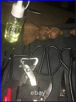Bonsai Tools Set Carbon Steel 10xKitCutter Scissors Shears Tree Nylon Bag+EXTRAS