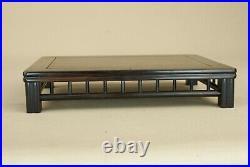 Bonsai table base square black wood yoshida Kazumi 18cm x 13cm x 3.5cm Japan 35