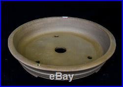 Chinese Yixing White Sand Clay Unglazed 19.5D Circle Ceramic Bonsai Pot