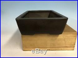 Classic Unglazed Rectangle Tokoname Bonsai Tree Pot By Yamaaki 12