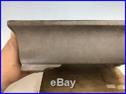 Grey Clay Rectangle Bonsai Tree Pot By Tokoname Keizan With Great Patina 12 1/2