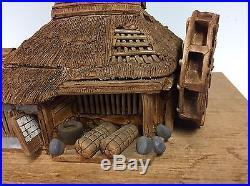 Hand Carved Shohin Bonsai Tree Display Accessory Hut By Taisho #2