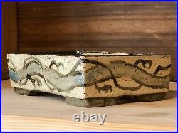 Hand Made Bonsai Pot By Thor Holvila Hand Size Rectangular 15.7 x 10.4 x 4.9 cm