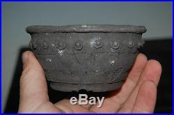 Handmade Unglazed Drum Shohin Size Yamaaki, 1st Generation, Rare Design
