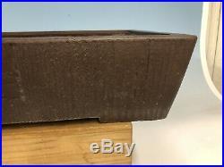 Handmade Wood Grain 1st Gen Yamaaki Special Commission Bonsai Tree Pot 16 1/8