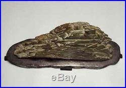 Japanese Suiseki Bonsai Stone / Rocky mountain / W 34 H 17.5 cm 2640 g