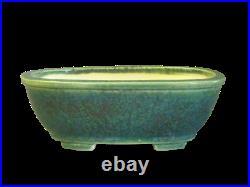 Japanese Tokoname Bonsai pot Oval shape KOYO (7.25.62.5 in.) Green