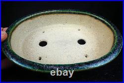Japanese Tokoname Bonsai pot by Aiba Koyo Oribe 18.2 cm