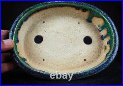 Japanese Tokoname Bonsai pot by Aiba Koyo Oribe 20 cm