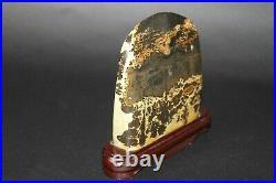 Japanese Vintage Suiseki Bonsai Stone Mountain Range 162mm 688g from JAPAN b612