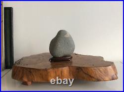 Japanese Vintage Suiseki Stone Moon / W 15×H17cm 2.12kg