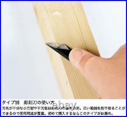Japanese bonsai / chisel round blade type / Jin Shari tools used for engraving