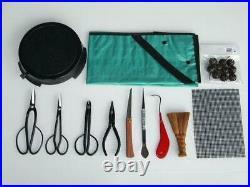 Kikuwa Bonsai Tools 12 piece set Made in Japan Tweezers Wire Cutting scissors