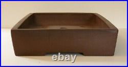 Large 39.5 cm Unglazed Rectangular Bonsai Pot