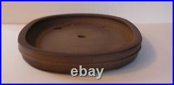 Large 41.5 cm Unglazed Oval Bonsai Pot