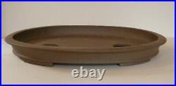 Large 44.5 cm Shallow Unglazed Oval Bonsai Pot
