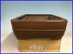 Large Handmade Unglazed Tokoname Bonsai Tree Pot 17