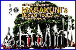 MASAKUNI BONSAI TOOLS GRAVER wooden grip 0021 8set Made in Japan #21 A to H