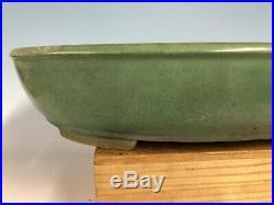 Massive Green Glazed Tokoname Bonsai Tree Pot By Yamafusa 18 3/8
