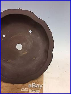 Mirror Shape Unglazed Yamaaki Bonsai Tree Pot, 11 1/4 Great Design