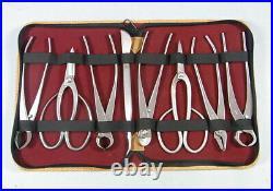 Mu377 Bonsai tool 8-piece set made of stainless steel Medium to big bonsai