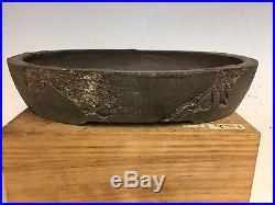 Mushuki Style Yamaaki Bonsai Tree Pot, Handmade Piece, 12 3/4