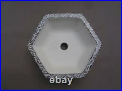 NEW ARTIST'Taniraku Houzan' Japanese hand made Bonsai pot (Hexagon) W12.7cm