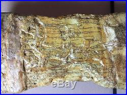 Natural polished Viewing stone suiseki-Red river old stock CAITAO tall specimen