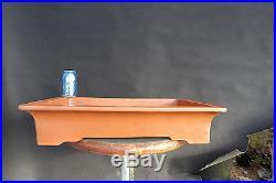 Nice Old Chinese Bonsai Pot 23.25x16.75x4.75 stamped