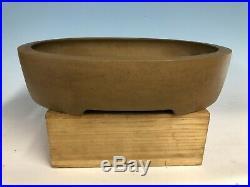 Oval Unglazed Bonsai Tree Pot Made By Maruhei 16 1/8